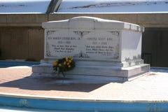 Kroon bij het graf van Martin Luther King Jr Stock Foto's