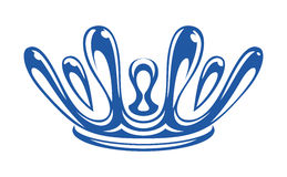 Kroon door dalingen van waterplons die wordt gevormd vector illustratie