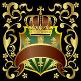 Kroon en schild Royalty-vrije Stock Afbeeldingen