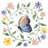 Kroon en vlinder Stock Fotografie