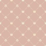 Kroon koninklijk naadloos patroon Stock Afbeelding