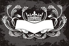 Kroon met bannerillustratie stock illustratie