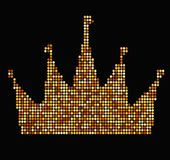 Kroon met de luxe uitstekende stijl van stralenillustraties vector illustratie