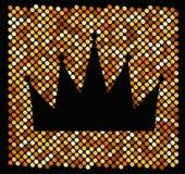 Kroon met de luxe uitstekende stijl van stralenillustraties stock illustratie