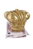 Kroon op euro Stock Afbeelding