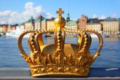 Kroon in Stockholm Stock Foto's