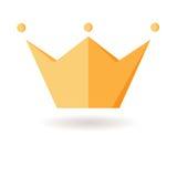 kroon Symbool van macht Fabelachtig pictogram kracht Geïsoleerd Voorwerp F Stock Afbeelding