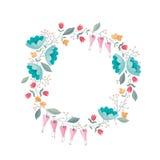 Kroon van bloemen vectorsamenstelling Stock Fotografie