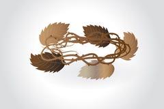 Kroon van de vector van het doornenembleem royalty-vrije illustratie