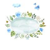 Kroon van geschilderde waterverf Royalty-vrije Stock Foto's