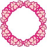 Kroon van het bloem de kleurrijke kader voor de kaart van de valentijnskaartdag Stock Foto's