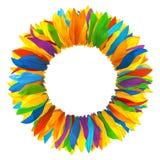 Kroon van multicolored bloemblaadjes van zonnebloem Royalty-vrije Stock Foto's