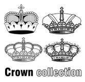 Kroon, vectorhand getrokken vector Royalty-vrije Stock Foto