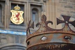 Kroon voor het Kasteel van Edinburgh stock afbeelding