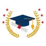Kroonbladeren met graduatie GLB en certificaat royalty-vrije illustratie