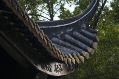 Kroonlijsten van de oude gebouwen van China Royalty-vrije Stock Foto's