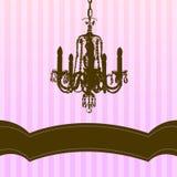Kroonluchter op roze gestreepte achtergrond Royalty-vrije Stock Foto's