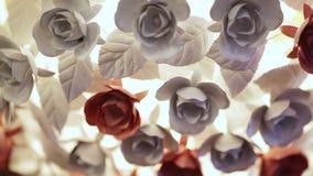 Kroonluchter van rozen stock videobeelden