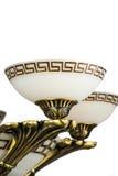 Kroonluchterlicht in binnenland, Chrystal-kroonluchterclose-up kristaldeel van kroonluchter, kroonluchter, verlichting, materiaal Royalty-vrije Stock Afbeelding