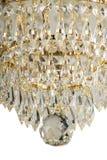 Kroonluchterlicht in binnenland, Chrystal-kroonluchterclose-up kristaldeel van kroonluchter, kroonluchter, verlichting, materiaal Stock Afbeelding