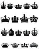 Kroonpictogrammen Royalty-vrije Stock Fotografie