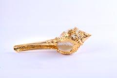Kroonslakshell op gouden dienblad Thais huwelijk Stock Afbeelding