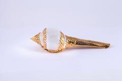 Kroonslakshell op gouden dienblad voor Thais huwelijk Royalty-vrije Stock Fotografie
