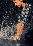 kropel dziewczyny woda Zdjęcia Stock