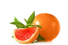 kropel grapefruit mennicy woda Obraz Royalty Free