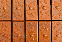 kropel podłoga wody drewno Obrazy Royalty Free