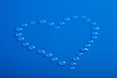 kropelek kierowa kształta woda Zdjęcia Royalty Free