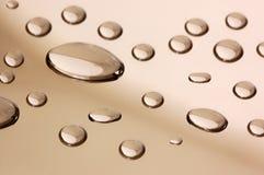 kropelek lustra powierzchnia przejrzysta Obrazy Stock