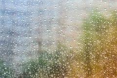 kropelek szkła woda kroplę wody Fotografia Stock