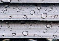 kropelki żyletka krańcowa makro- stara Obrazy Stock