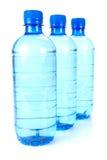 kropelki butelkowa woda Zdjęcie Stock