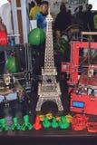 KROPIVNITSKIY, UKRAINE – 12 MAY, 2018: Plywood 3D printer graber i3. Wooden Three dimensional printing machine and various 3D. KROPIVNITSKIY, UKRAINE stock photos