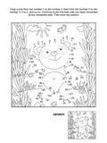 Kropka i kolorystyki strona z panda niedźwiedziem royalty ilustracja