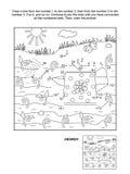 Kropka i kolorystyki strona z podlewanie puszką ilustracji