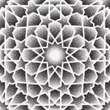 Kropka wzór Islamski ornamentu wektor, perski motiff 3d Ramadan round wzoru islamscy elementy Geometryczna kurenda royalty ilustracja