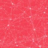 Kropki łączyć z linia abstrakta tłem Obraz Stock
