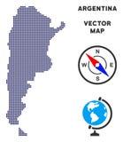 Kropki Argentyna mapa ilustracja wektor
