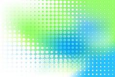 kropki błękitny zieleń royalty ilustracja