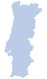 kropki mapa Portugal Zdjęcie Royalty Free