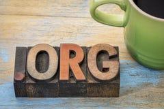 Kropki org interneta domena obraz stock