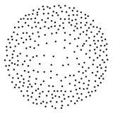 Kropki pracy sfery pointylizmu styl Rocznik grawerujący balowego Chaotycznego halftone okręgu logo wektorowy symbol kropkowana ab ilustracji