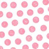 kropki różowią polkę Zdjęcie Stock