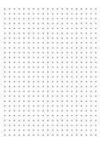 Kropki siatki papieru wykresu papier 1 cm na białym tło wektorze royalty ilustracja