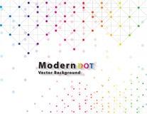 Kropki sieci koloru technologia Zdjęcia Stock