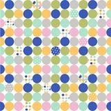 kropki tkaniny wzoru polka bezszwowa Zdjęcia Stock