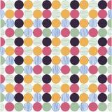 kropki tkaniny wzoru polka bezszwowa Obrazy Stock